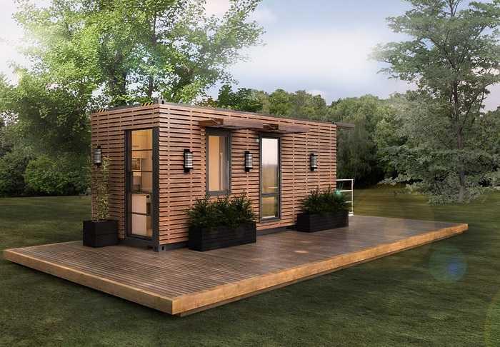 maison container design et moderne
