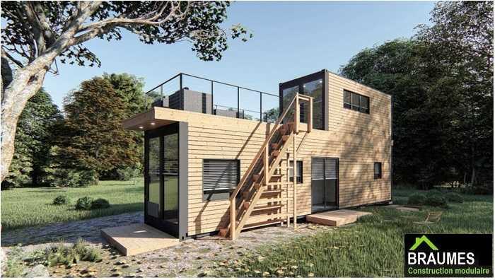 studio de jardin avec mezzanine et terrasse
